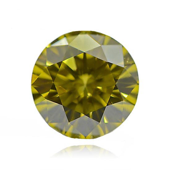 Yellow Diamond, Round, Fancy Vivid Yellow, 1.07 Carat