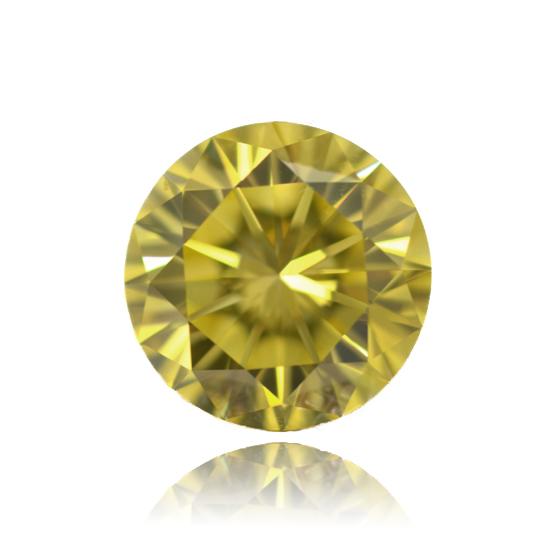 Yellow Diamond, Round, Fancy Vivid Yellow, 1.30 Carat