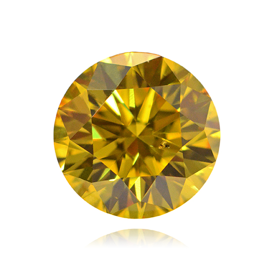 Yellow Diamond, Round, Fancy Vivid Yellow, 1.00 Carat