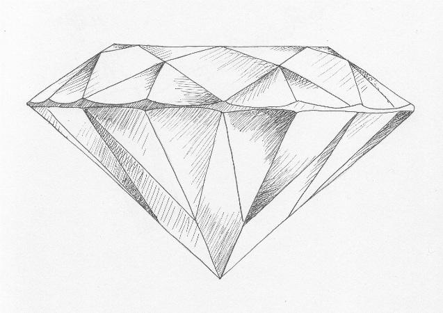 Colorless Diamond, Round, G, 3.69 Carat