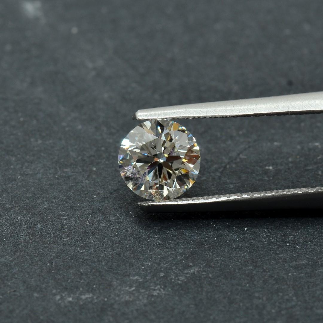 Colorless Diamond, Round, G, 1.03 Carat