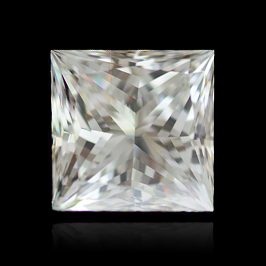 Colorless Diamond, Princess, J, 2.32 Carat